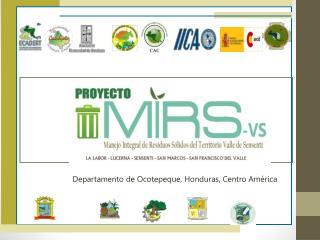 Departamento de Ocotepeque, Honduras, Centro América