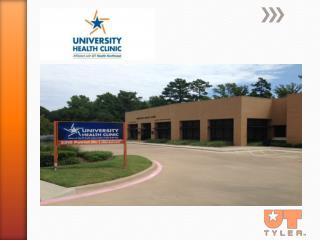 The  University Health Clinic is located .6 mile south of SSE Loop 323.