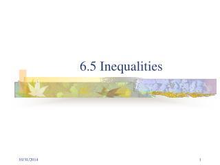 6.5 Inequalities