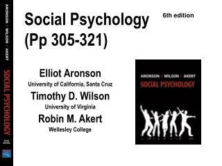 Social Psychology (Pp 305-321)