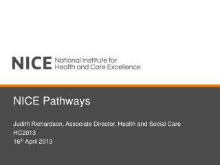 NICE Pathways