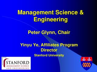 Management Science & Engineering