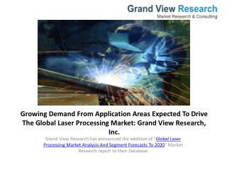 Global Laser Processing Market to 2020 - Industry Trends.