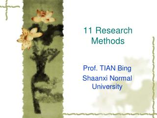 11 Research Methods