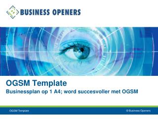 OGSM Template Businessplan op 1 A4; word succesvoller met OGSM