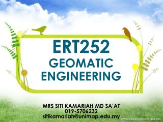 ERT252  GEOMATIC ENGINEERING