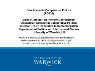 www2.warwick.ac.uk/fac/soc/pais/staff/doorenspleet/ www2.warwick.ac.uk/fac/soc/pais/research/csd/