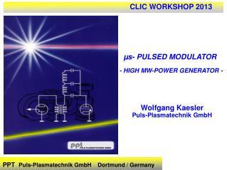 PPT  Puls-Plasmatechnik GmbH    Dortmund / Germany