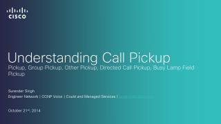 Understanding Call Pickup