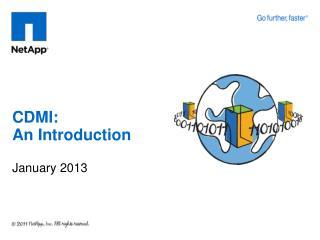 CDMI: An Introduction