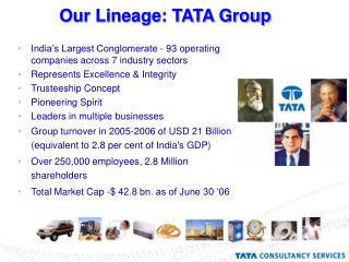 Our Lineage: TATA Group