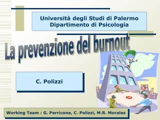 Universit  degli Studi di Palermo Dipartimento di Psicologia