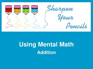 Using Mental Math