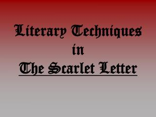 Literary Techniques in  The Scarlet Letter