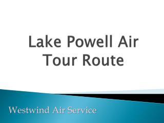 Lake Powell Air Tour Route