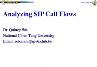 Analyzing SIP Call Flows