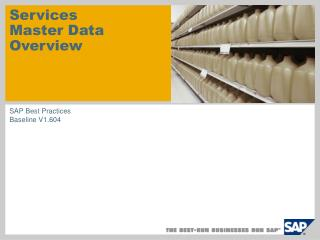 Services Master Data Overview
