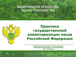 Практика  государственной инвентаризации лесов Российской Федерации