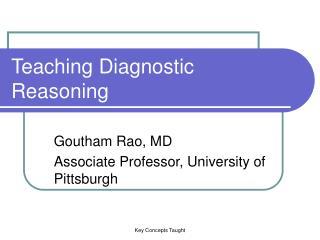 Teaching Diagnostic Reasoning