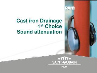 Cast iron Drainage 1 st  Choice Sound attenuation
