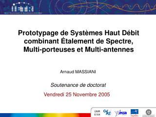 Prototypage de Syst mes Haut D bit combinant  talement de Spectre,  Multi-porteuses et Multi-antennes