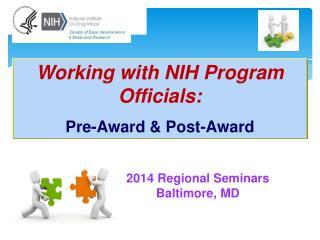 2014 Regional Seminars Baltimore, MD