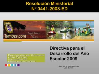 Resoluci�n Ministerial N� 0441-2008-ED