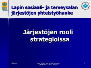 Järjestöjen rooli strategioissa