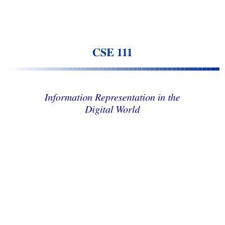 CSE 111