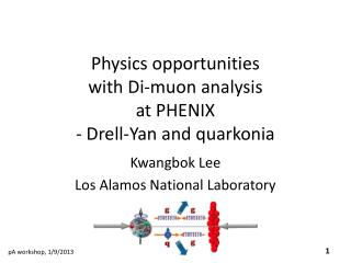 Physics opportunities  with Di- muon  analysis at PHENIX  -  Drell -Yan and  quarkonia