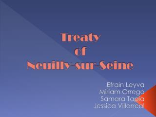 Treaty  of Neuilly- sur -Seine