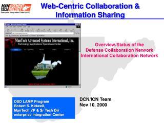 Web-Centric Collaboration   Information Sharing