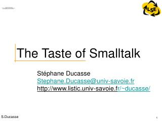 The Taste of Smalltalk