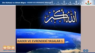 - KADER  VE EVRENDEKİ YASALAR  1