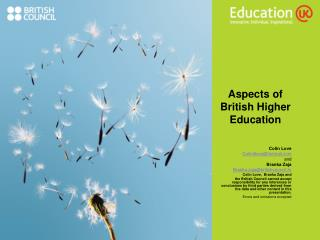 Aspects of British Higher Education