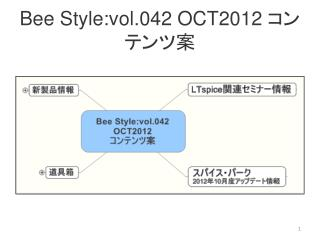 Bee Style:vol.042 OCT2012  コンテンツ案