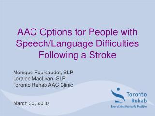 AAC Options for People with Speech