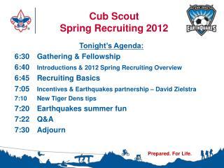 Cub Scout  Spring Recruiting 2012