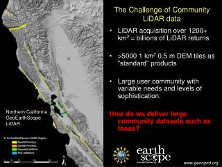 The Challenge of Community LiDAR data