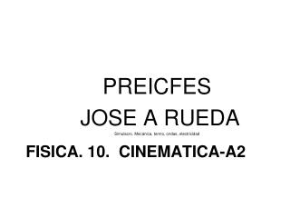FISICA. 10.  CINEMATICA-A2