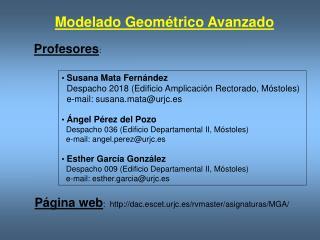 Modelado Geométrico Avanzado