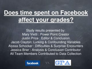 Does time spent on Facebook affect your grades?