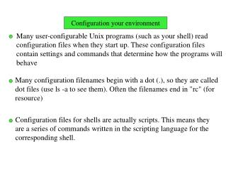 Configuration your environment