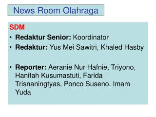 News Room Olahraga