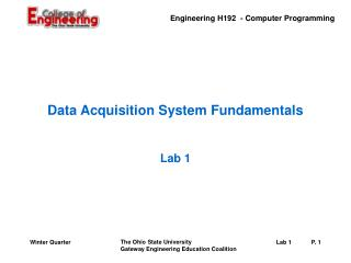 Data Acquisition System Fundamentals