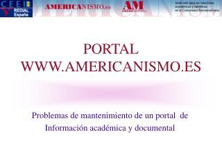 PORTAL WWW.AMERICANISMO.ES