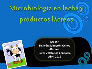 Asesor: Dr. Iv�n Salmer�n Ochoa Alumna: Sarai Villalobos Chaparro Abril 2012