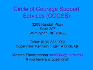 Circle of Courage Support Services (COCSS)