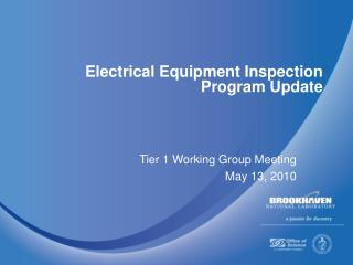 Electrical Equipment Inspection Program Update