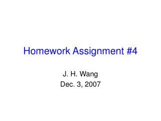Homework Assignment #4